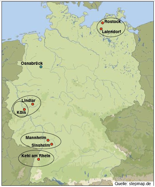 Karte Aktionsfelder